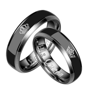 Classic Lovers' Mood Ring for Female Male Her King His Queen Couple Rings Color Change