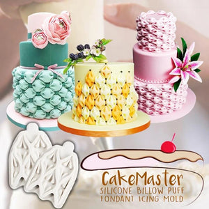 CakeMaster Silicone Billow Puff Fondant Icing Mold,Buy 1 Get 1 Free