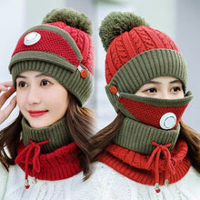 Load image into Gallery viewer, 3PCS Womens Winter Scarf Set( Hat + Scarf + Mask)