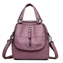 Load image into Gallery viewer, Fashion Leather Multipurpose Backpack Shoulder Handbag