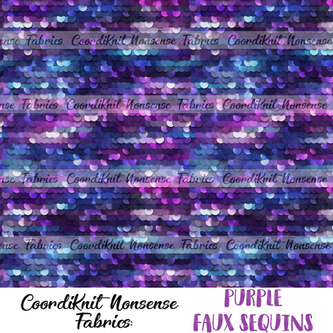 *R1* Purple Faux Sequins- Large Scale