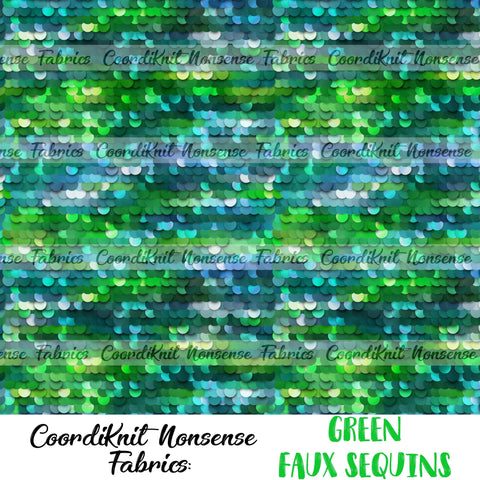 *R1* Green Faux Sequins- Large Scale