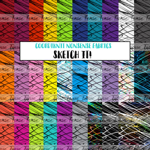 *FLASH PREORDER* Sketch It! - Cotton French Terry