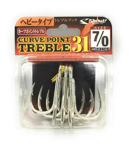 Shout Curved Point Treble 31