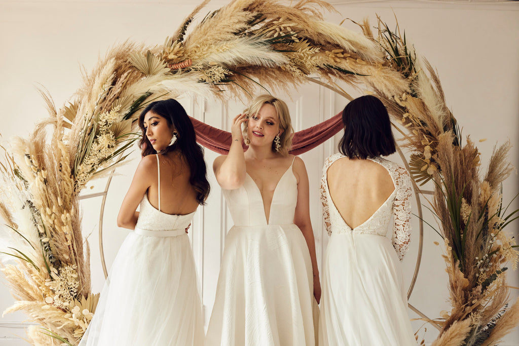 Cool wedding dress boutiques in Vancouver and Calgary