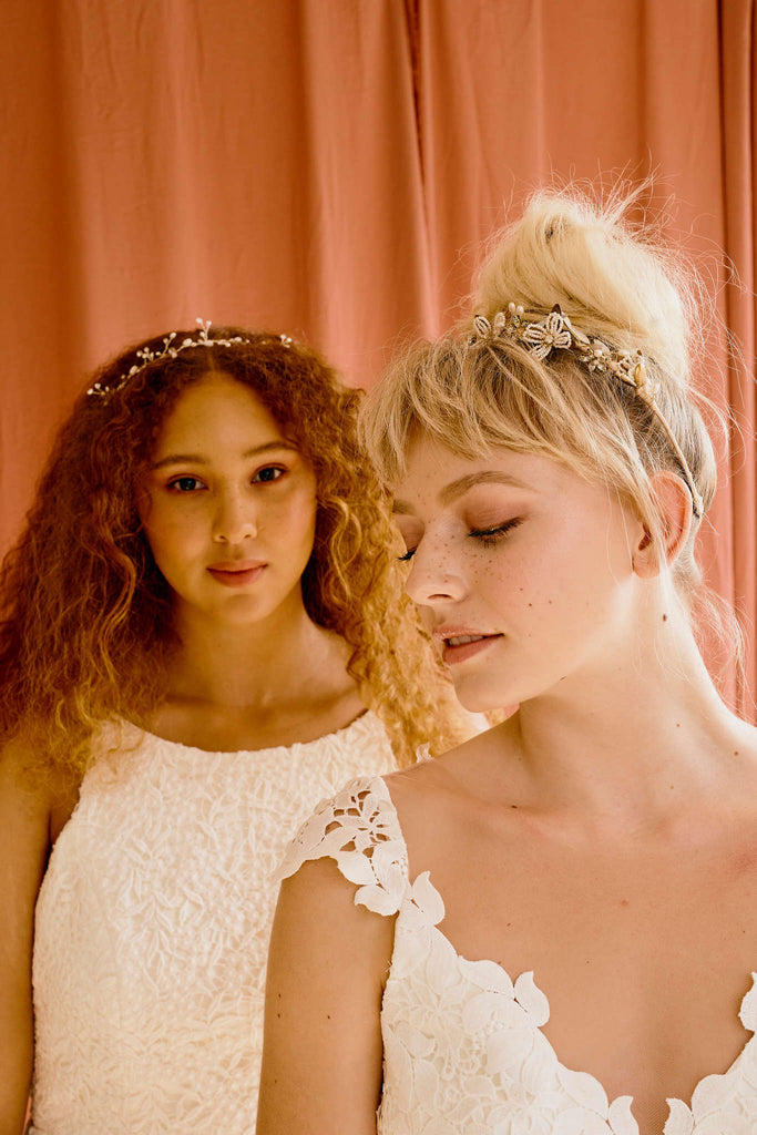 Bridal hair accessories in Vancouver and Calgary wedding boutiques