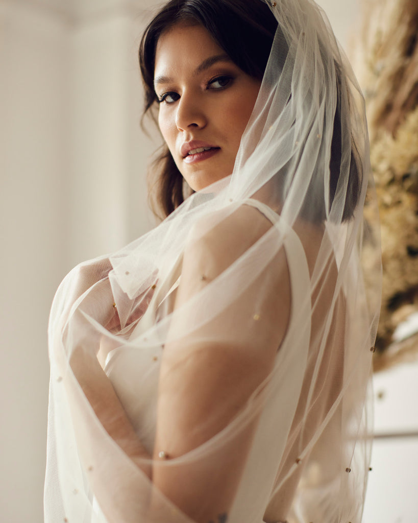 Cool statement wedding veils in Vancouver and Calgary boutiques