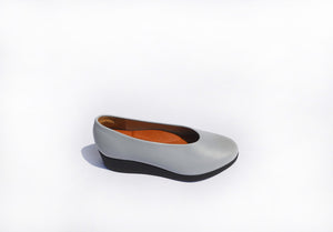 Wedge Slip-on - Azure Grey Nappa