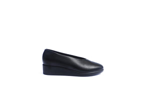 Wedge Slip-on - Black Nappa