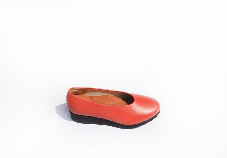 Wedge Slip-on - Fire Nappa