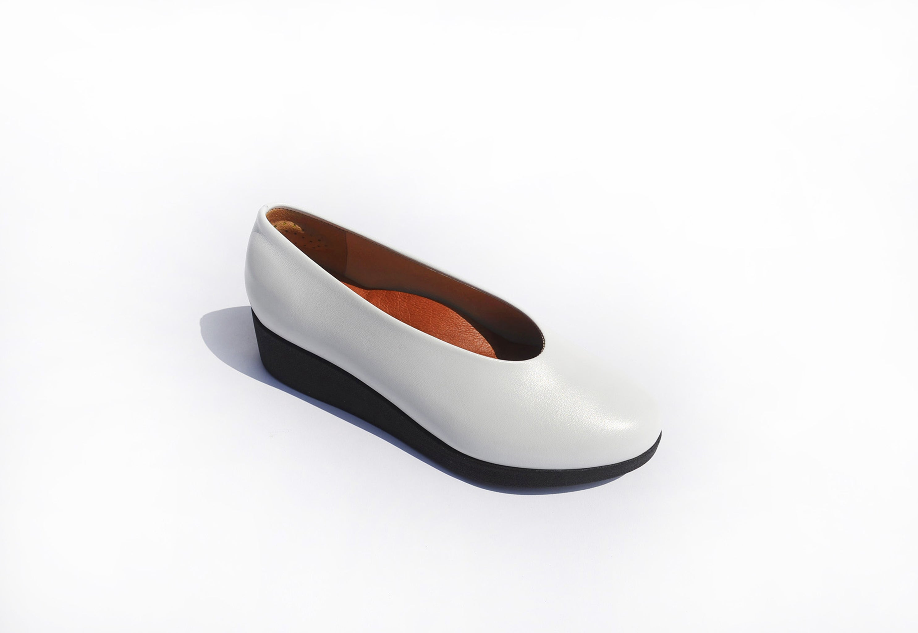 Wedge Slip-on - White Nappa