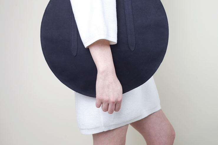 Circle Bag - Black Nubuck