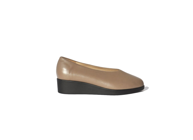 Wedge Slip-on - Earth Nappa