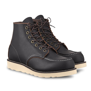 RED WING MEN'S 6'' MOC TOE BLACK