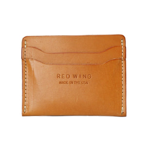 RED WING CARD HOLDER VEG TAN