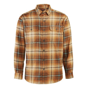 WOLVERINE LEGEND FLANNEL RUSSET TAN PLAID