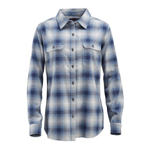 WOLVERINE WOMEN'S AURORA FLANNEL TWILIGHT PLAID