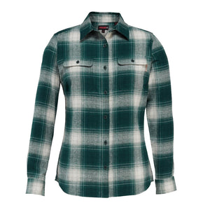 WOLVERINE WOMEN'S AURORA FLANNEL JADE PLAID