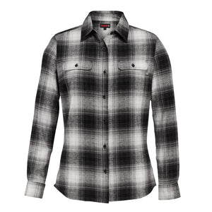 WOLVERINE WOMEN'S AURORA FLANNEL BLACK PLAID