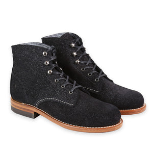 WOLVERINE WOMEN'S 1000 MILE BLACK SUEDE