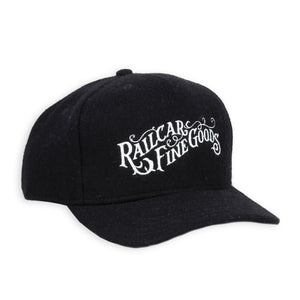 RAILCAR BLACK WOOL BASEBALL HAT