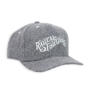 RAILCAR GREY WOOL BASEBALL HAT
