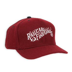 Railcar Maroon Wool Baseball Hat