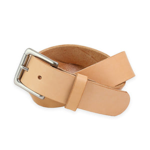 RAILCAR LEATHER VEG TAN BELT