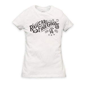 WOMEN'S RAILCAR FINE GOODS CA TEE