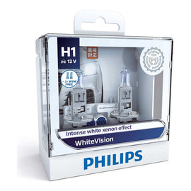 Philips White Vision H1 Globe 12V 55W (2 Pack)