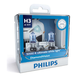 Philips Diamond Vision H3 Globe 12V 55W (2 Pack)