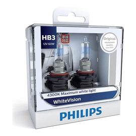 Philips White Vision HB3 Globe 12V 60W (2 Pack)