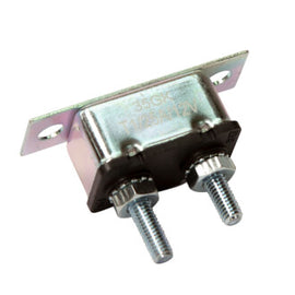 Roadpower Circuit Breaker 12V 25A, Automatic Reset Type I, Metal Housing, Straight Bracket, Single Pack