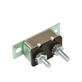 Roadpower Circuit Breaker 12V 40A, Automatic Reset Type I, Metal Housing, Straight Bracket, Single Pack