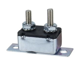 Roadpower Circuit Breaker 12V 50A, Automatic Reset Type I, Metal Housing, Straight Bracket, Single Pack