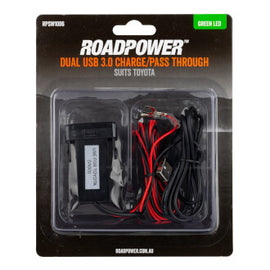 Switch Roadpower Dual USB Pass Through Suits Toyota 39 x 21mm Green LED