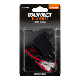 Switch Roadpower USB 3.0 Suits Nissan Includes Harness 30 X 23mm Orange LED