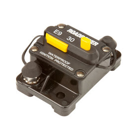 Roadpower Thermal Circuit Breaker 12-48VDC 30A Surface Mount Manual Reset Ignition Protected IP67