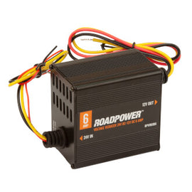 Roadpower Voltage Reducer 24V-12V DC 6A Isolated With Memory Wire Single Circuit