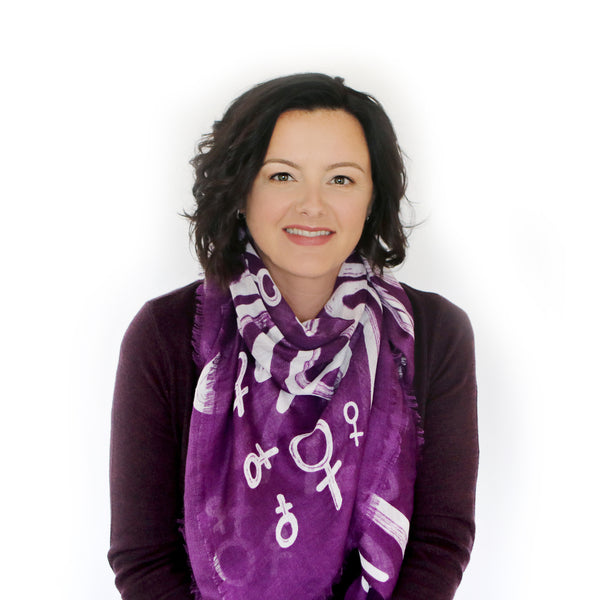 Wrapped in Courage Purple Scarf - FOUR STYLES