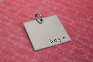 HOPE charm necklace