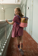 Afbeelding in Gallery-weergave laden, Small backpack colourblocking gold/puff pink/lobby purple