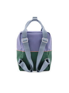 Small backpack colourblocking purple/movie green/heckles blue