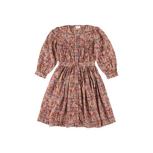 Karol Ikat Brick  Girlsdress