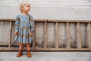 Kenzie Flowerprint Blue Dress