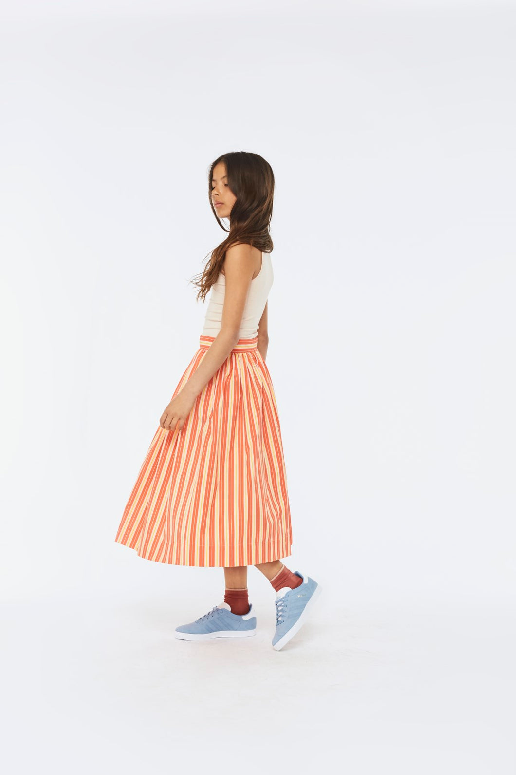 Brittany  Skirts Coral Sunrise Stripe