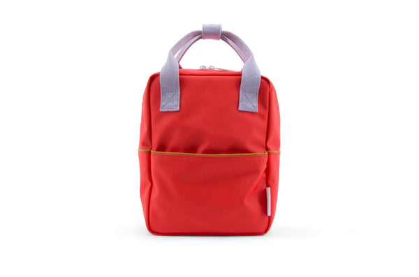 Small backpack cordury-Sticky Lemon sporty red