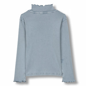 Spice Stone Blue - Unisex Knitted Long Sleeve High Collar T-shirt