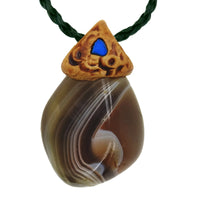 Agate Botswana crystals healing stone necklace natural pendant