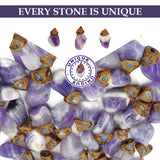 Amethyst crystals healing  stone necklace natural gemstone pendant